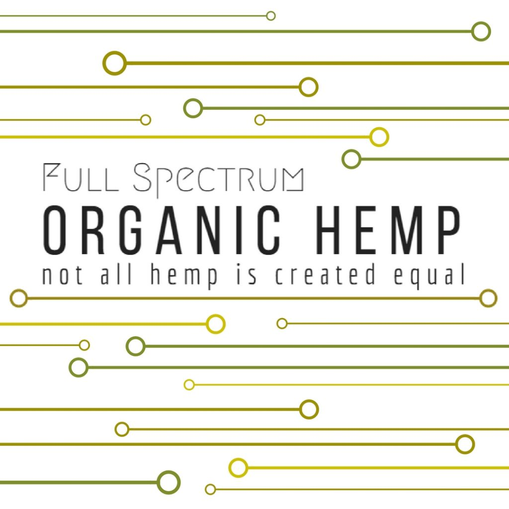 Full Spectrum Organic Hemp, not all hemp is created equal